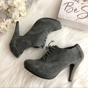 Me Too Lisbon Boot Ankle Bootie Gray Suede, 7.5